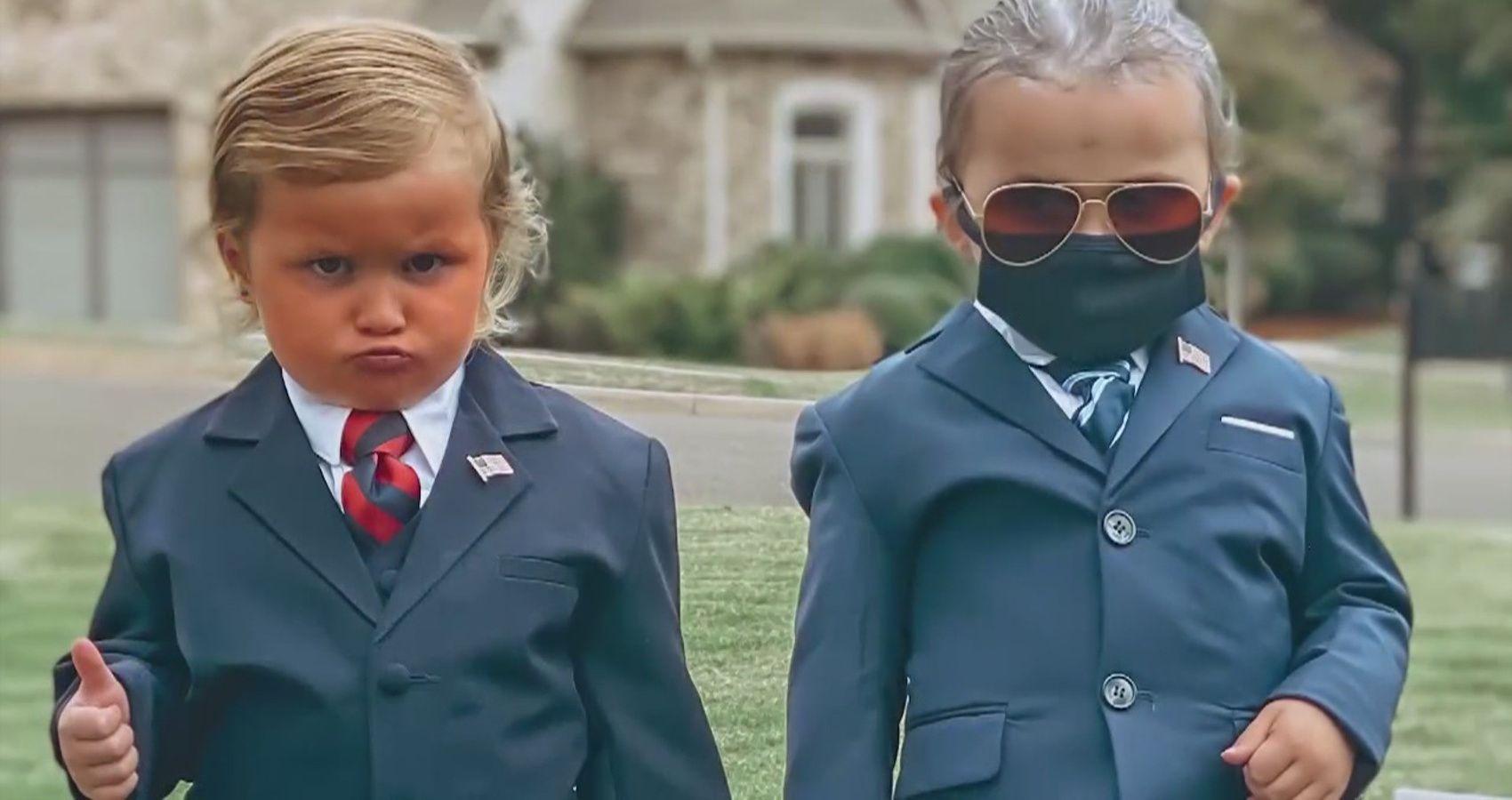 Twin Girls Win Halloween With Trump & Biden Costumes